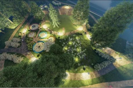 Sapiegų parko architektūriniam konkursui pateiktas vienas projektas