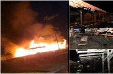 Šilainių turgavietėje – didžiulis gaisras: degė atvira liepsna <span style=color:red;>(papildyta)</span>