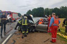 Už Balbieriškio – masinė avarija: sužalota moteris <span style=color:red;>(atnaujinta)</span>