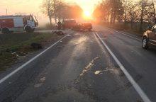 Kauno rajone – smarki automobilių kaktomuša: ieškomi liudininkai <span style=color:red;>(atnaujinta)</span>